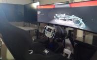 Simulador monitor ultrapanoramico